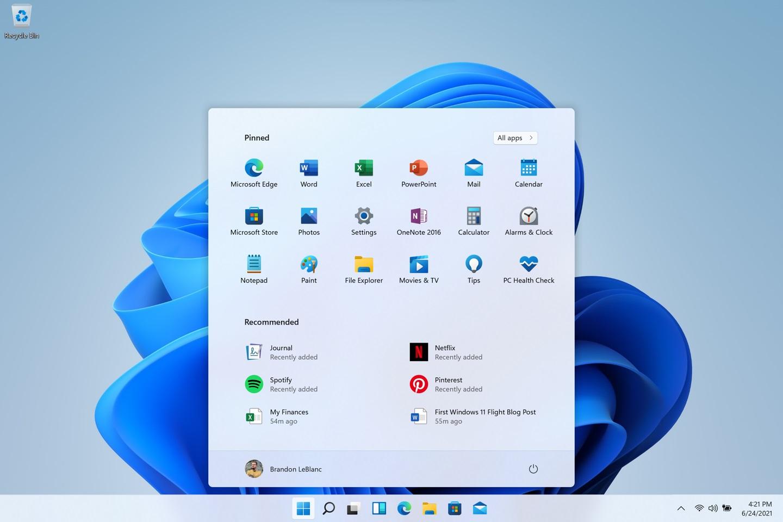微软Windows 11 Insider Preview 22000.184截图