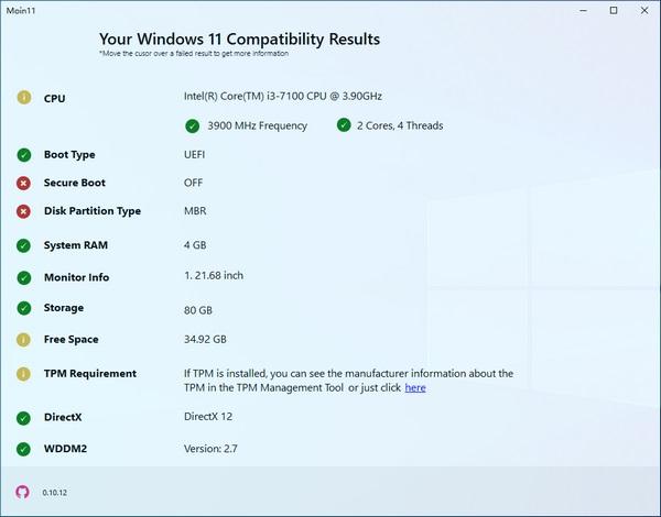 Moin11(Win11兼容检测工具)截图