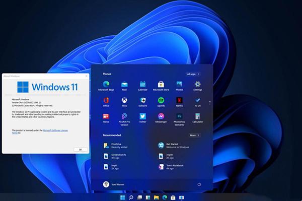 Windows11 Insider Build 10.0.22000.65(KB5004745)截图
