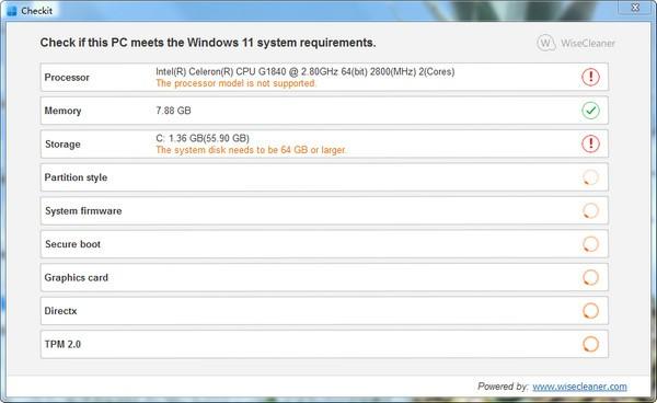 Checkit(Windows 11检测工具)截图
