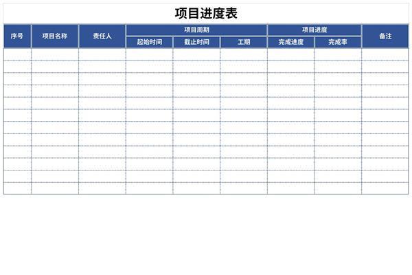 项目进度表