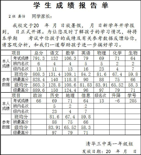 具才成绩通知单(通家书)制作系统截图1